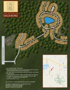 Sagamore neighborhood, wooded lots, The Ravine, The Woods, The Meadows,