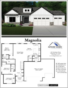 Photo of Magnolia farmhouse ranch floor plan and elevation
